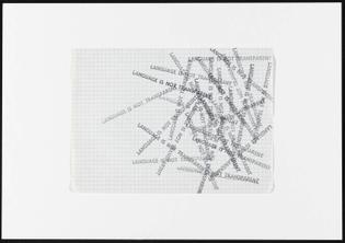 Mel Bochner, Language is not transparent, 1969