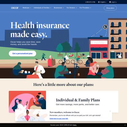 Oscar   Health Insurance Made Easy