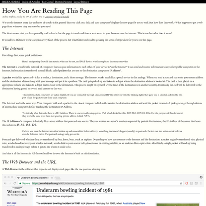 How You Are Reading This Page