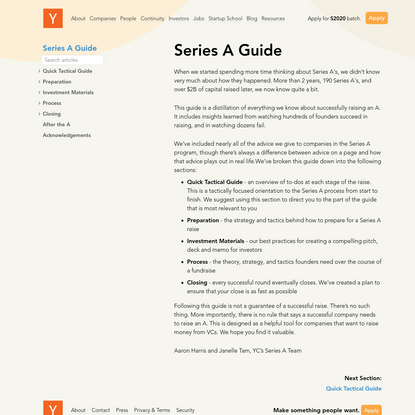 Series A Guide