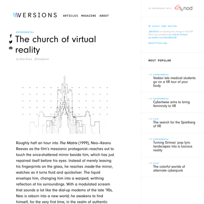 The church of virtual reality - Versions