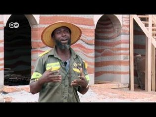 Building green homes out of mud in Ghana