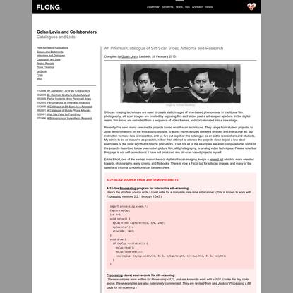 Golan Levin and Collaborators