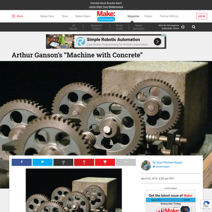"Arthur Ganson's ""Machine with Concrete"" 