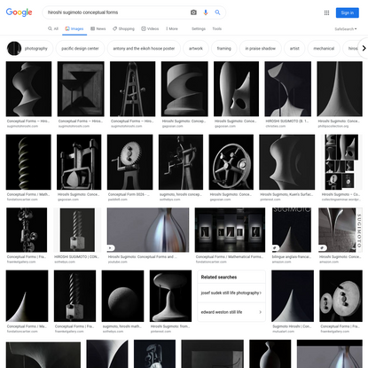 hiroshi sugimoto conceptual forms - Google Search