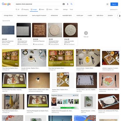 stephen shore placemat - Google Search