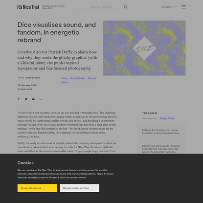 Dice visualises sound, and fandom, in energetic rebrand