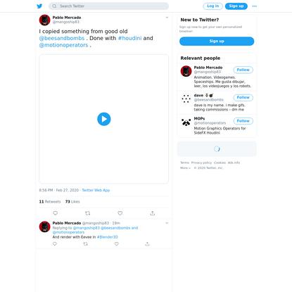 Pablo Mercado on Twitter
