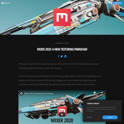 Mixer 2020: A new texturing paradigm
