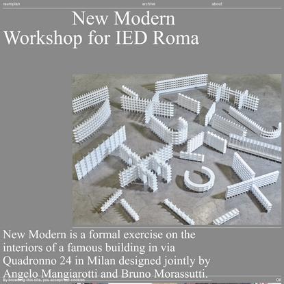 New Modern | Raumplan