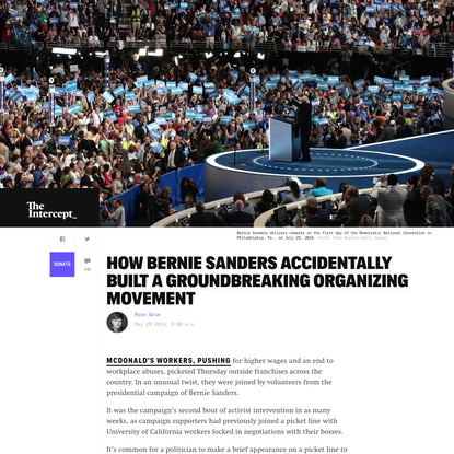 How Bernie Sanders Accidentally Built a Groundbreaking Organizing Movement