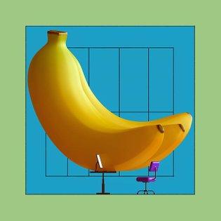 Bananas on a desk