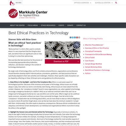 Best Ethical Practices in Technology