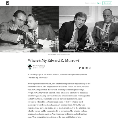 Where's My Edward R. Murrow