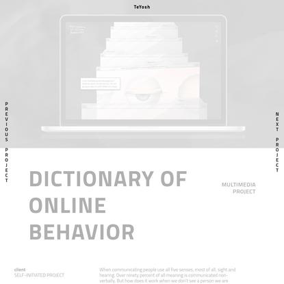 TeYosh - Dictionary of Online Behavior