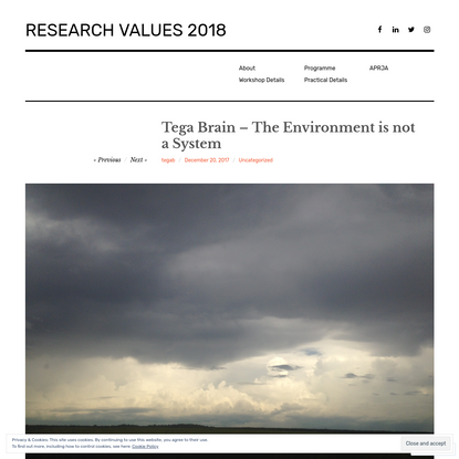 Tega Brain - The Environment is not a System