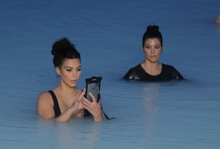 wet kardashians iphone ocean