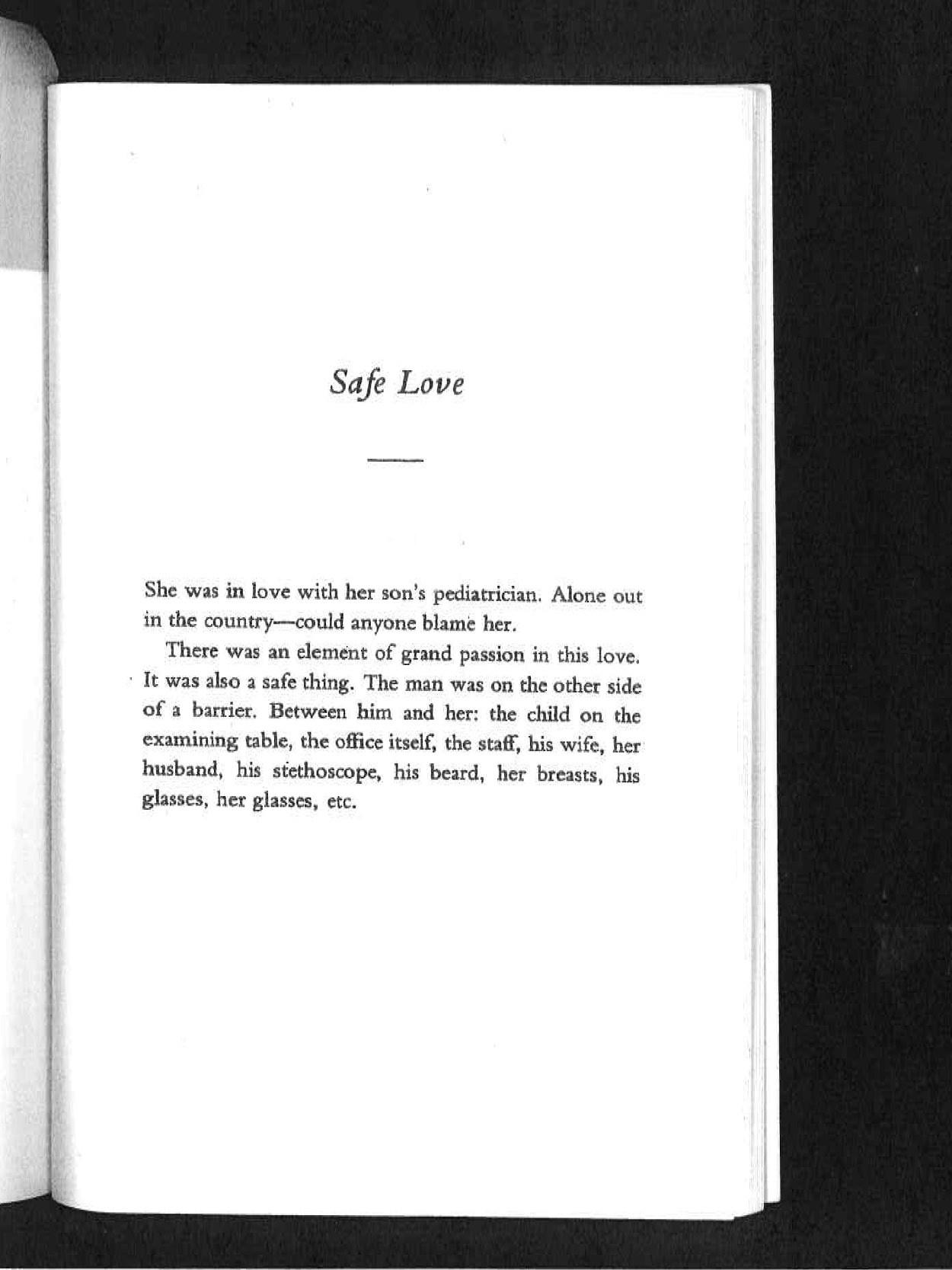 Safe Love (Lydia Davis)