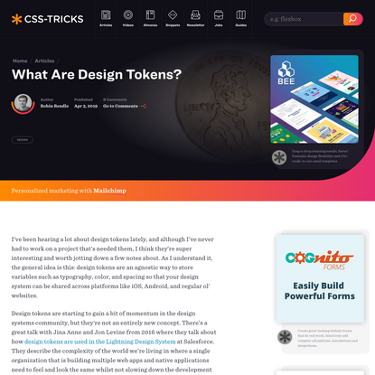 What Are Design Tokens? | CSS-Tricks