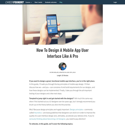 How To Design A Mobile App User Interface Like A Pro