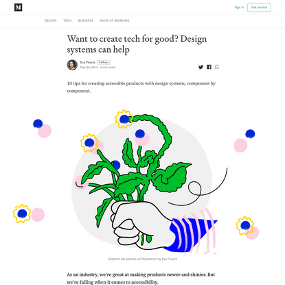 Want to create tech for good? Design systems can help