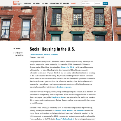 Social Housing in the U.S.