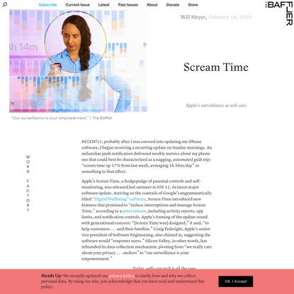 Scream Time | Will Meyer