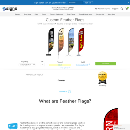 Signs.com | Custom Feather Flag Banners | Signs.com