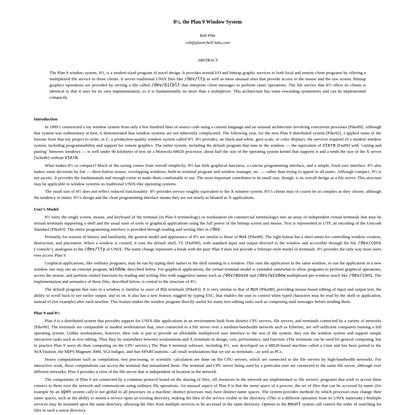 8½, the Plan 9 Window System