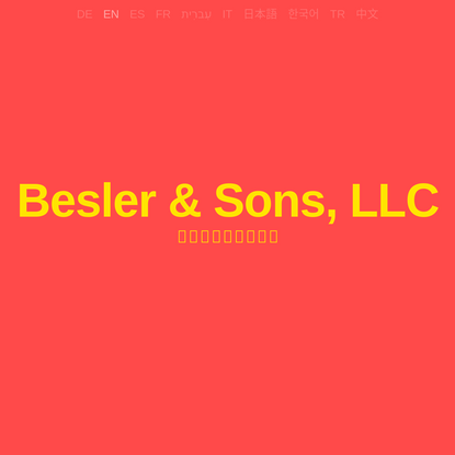 Besler & Sons, LLC