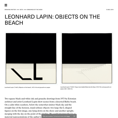 Drawing Matter → SETS → Drawings of the Week → Leonhard Lapin: Objects on the Beach