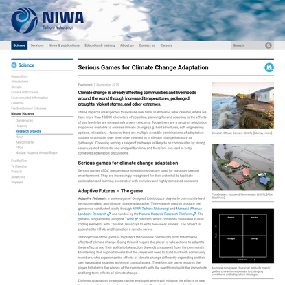 Serious Games for Climate Change Adaptation