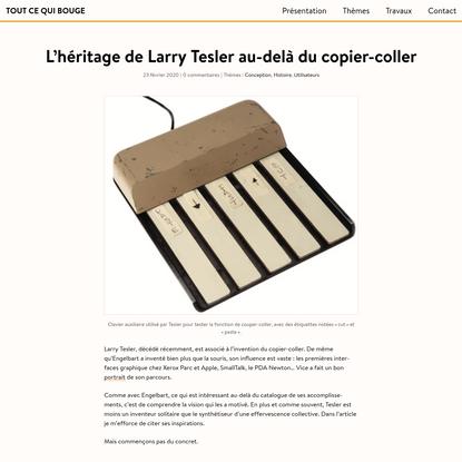 L'héritage de Larry Tesler au-delà du copier-coller