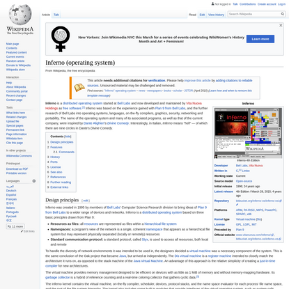 Inferno (operating system)