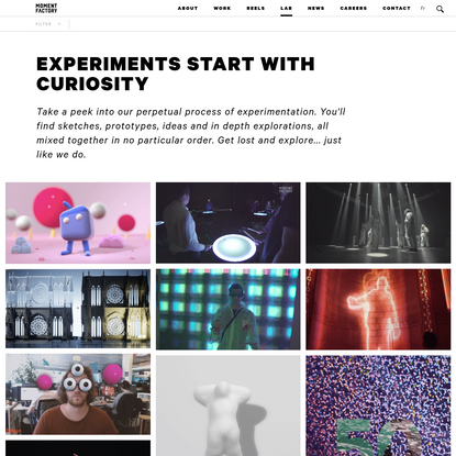 Moment Factory Lab - Experiments start with curiosity | Moment Factory