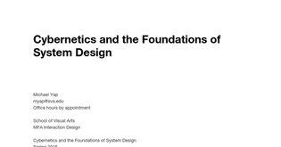 Cybernetics Syllabus [DRAFT]