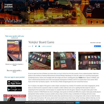 'Kolejka' Board Game