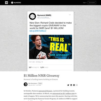 $1 Million NMR Giveaway