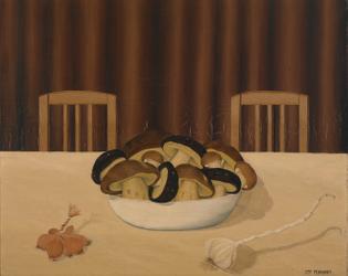 Mushrooms in a Bowl, ca. 1935