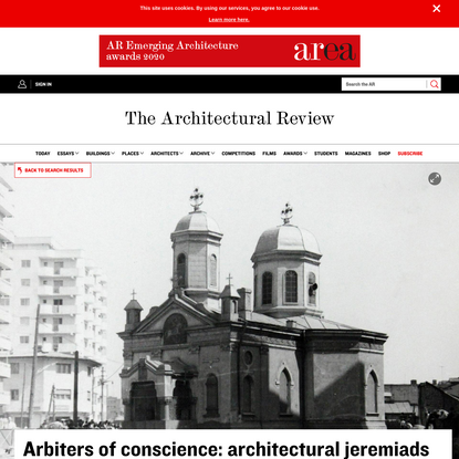 Arbiters of conscience: architectural jeremiads