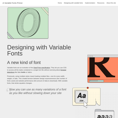 Designing with Variable Fonts