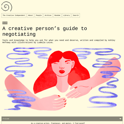 A creative person's guide to negotiating