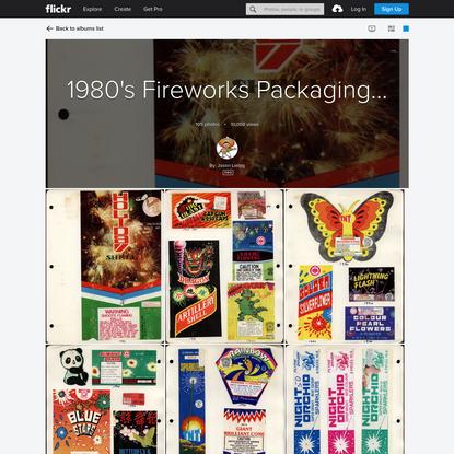 1980's Fireworks Packaging scrapbook