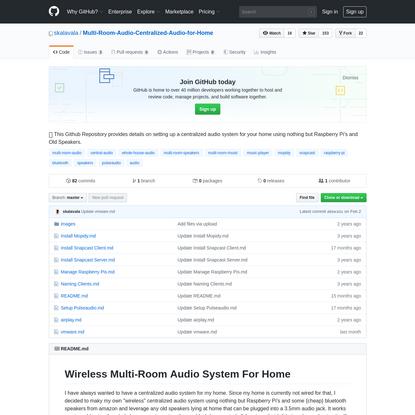 skalavala/Multi-Room-Audio-Centralized-Audio-for-Home
