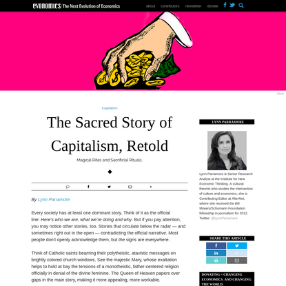 The Sacred Story of Capitalism, Retold - Evonomics