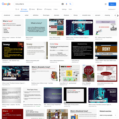 irony what is - Google Search