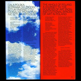 Bilingual brochure for Cała Polska Exhibition @bwawroclaw / with @seb_mill #clouds #trash #design #editorial #book #exhibiti...