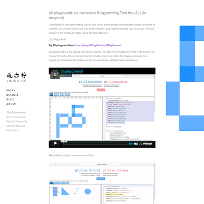 p5Playground.: an WYSIWYG Interactive programming Tool for p5.js