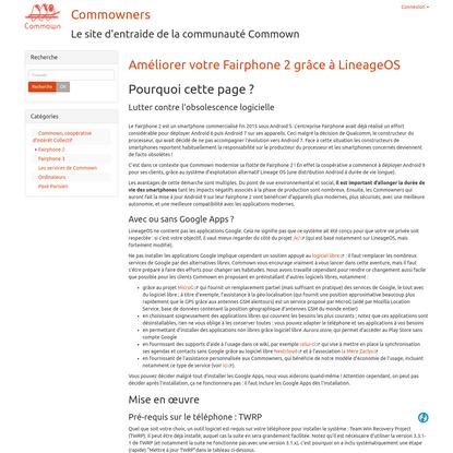 Wiki de Commown   Améliorer votre Fairphone 2 grâce à LineageOS