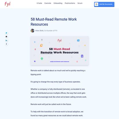 58 Must-Read Remote Work Resources